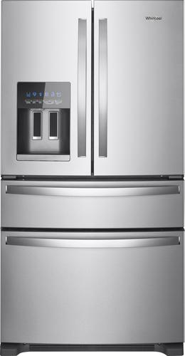 Whirlpool WRX735SDHZ - Refrigerator/freezer - freestanding - width: 35.6 in - depth: 34.6 in - height: 70.1 in - 24.5 cu. ft - french style with ice & water dispenser - stainless steel