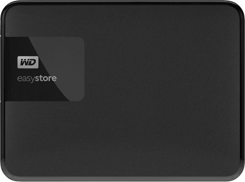 WD - easystore® 2TB External USB 3.0 Portable Hard Drive - Black External HDD