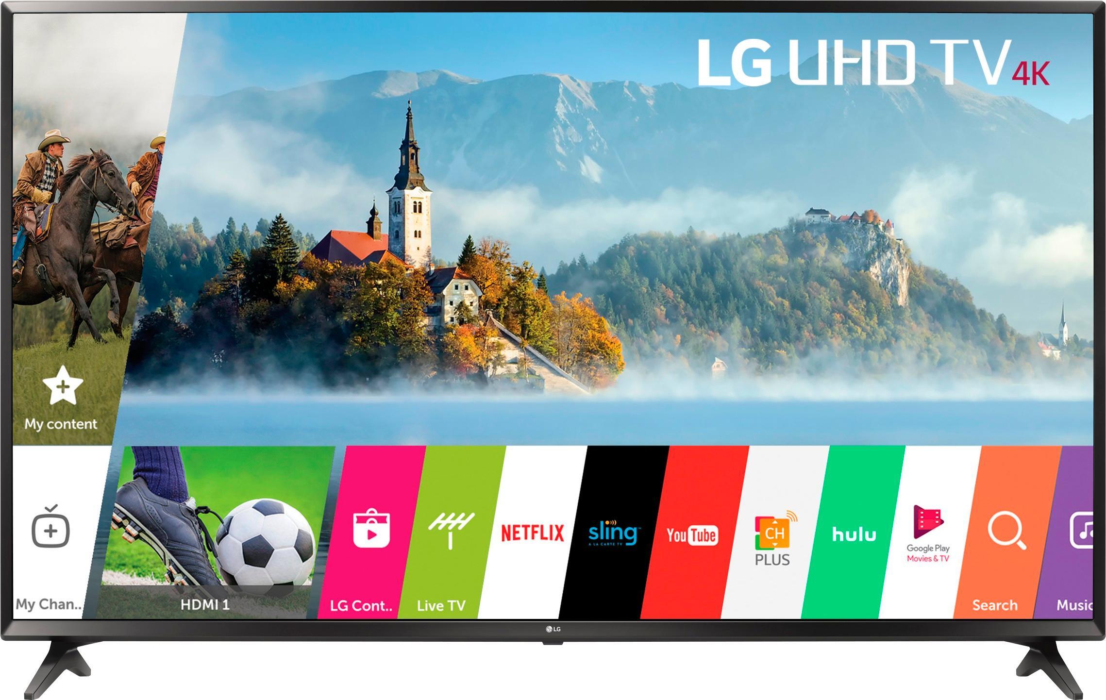 "LG - 55"" Class - LED - UJ6300 Series - 2160p - Smart - 4K UHD TV with HDR"