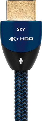Image of AudioQuest - Sky 8' 4K Ultra HD HDMI Cable - Black with blue accents