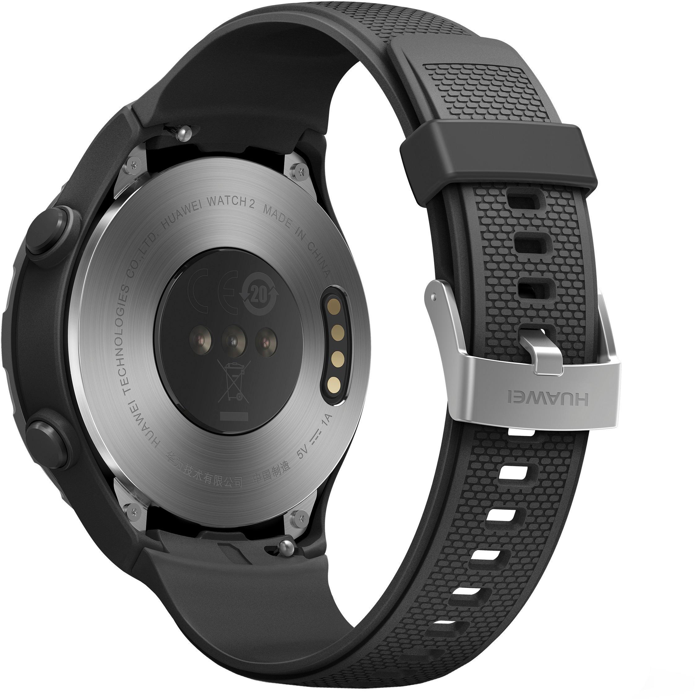 Huawei LEO-B09BLK Watch 2 Sports Smartwatch 45mm Plastic Carbon Black