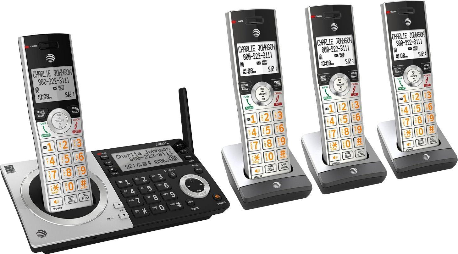 ATT CL83407 DECT 6.0 Digital Four Handset Cordless Phone