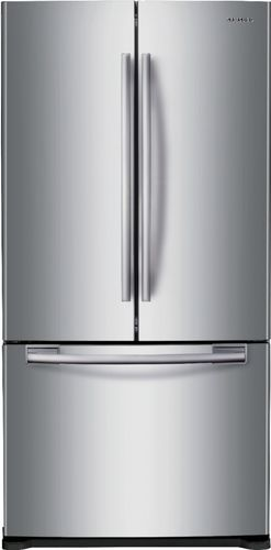 Samsung 33 in. W 17.5 cu. ft. French Door Refrigerator in Stainless Steel and Counter Depth