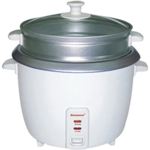 Brentwood - 4 Cup Rice Cooker and Steamer - White 5805784
