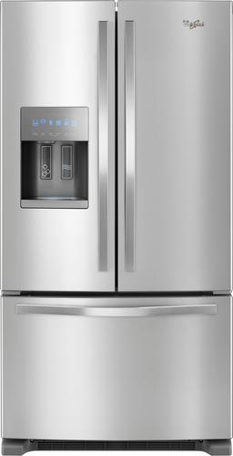 Whirlpool WRF555SDFZ - Refrigerator/freezer - freestanding - width: 35.6 in - depth: 35.2 in - height: 70.1 in - 24.7 cu. ft - french style with ice & water dispenser - stainless steel