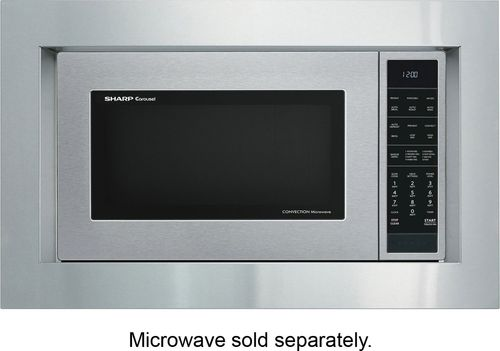 Sharp - 27  Trim Kit for Sharp SMC1585BS Microwave - Silver Compatible with Sharp SMC1585BS microwave; built-in appearance