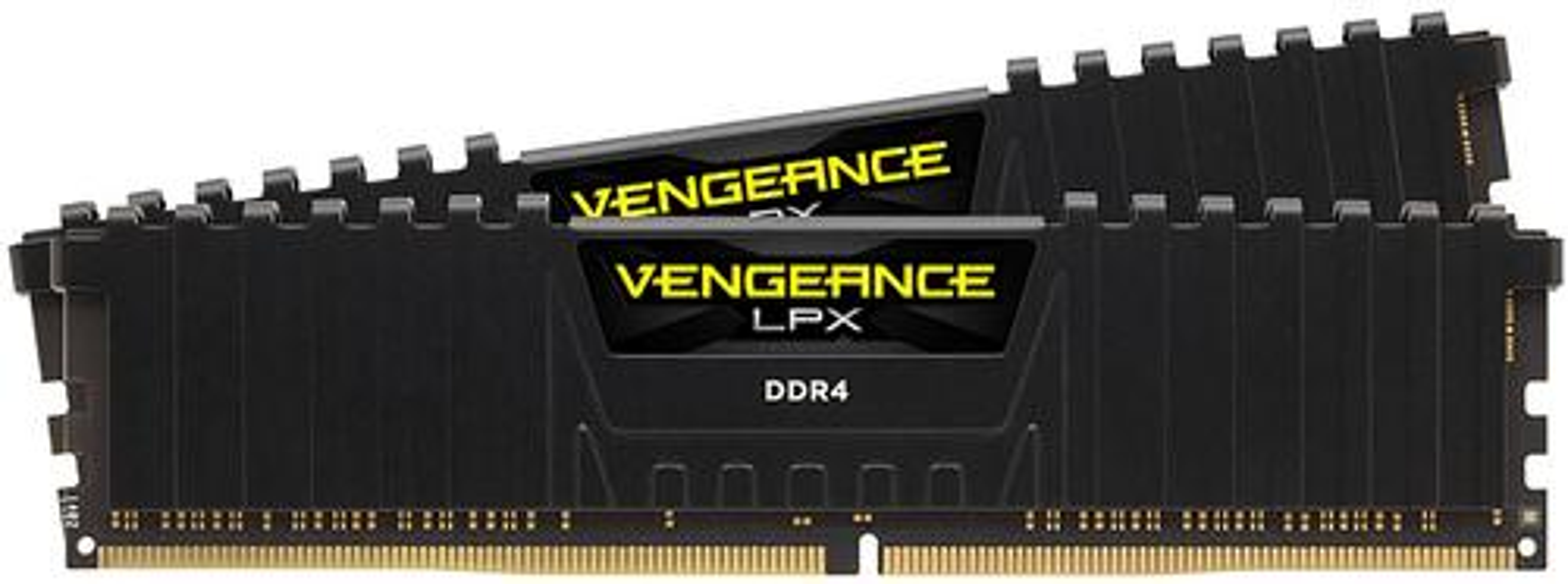 CORSAIR - VENGEANCE LPX Series 16GB (2PK 8GB) 3.0GHz DDR4 Desktop Memory - Black