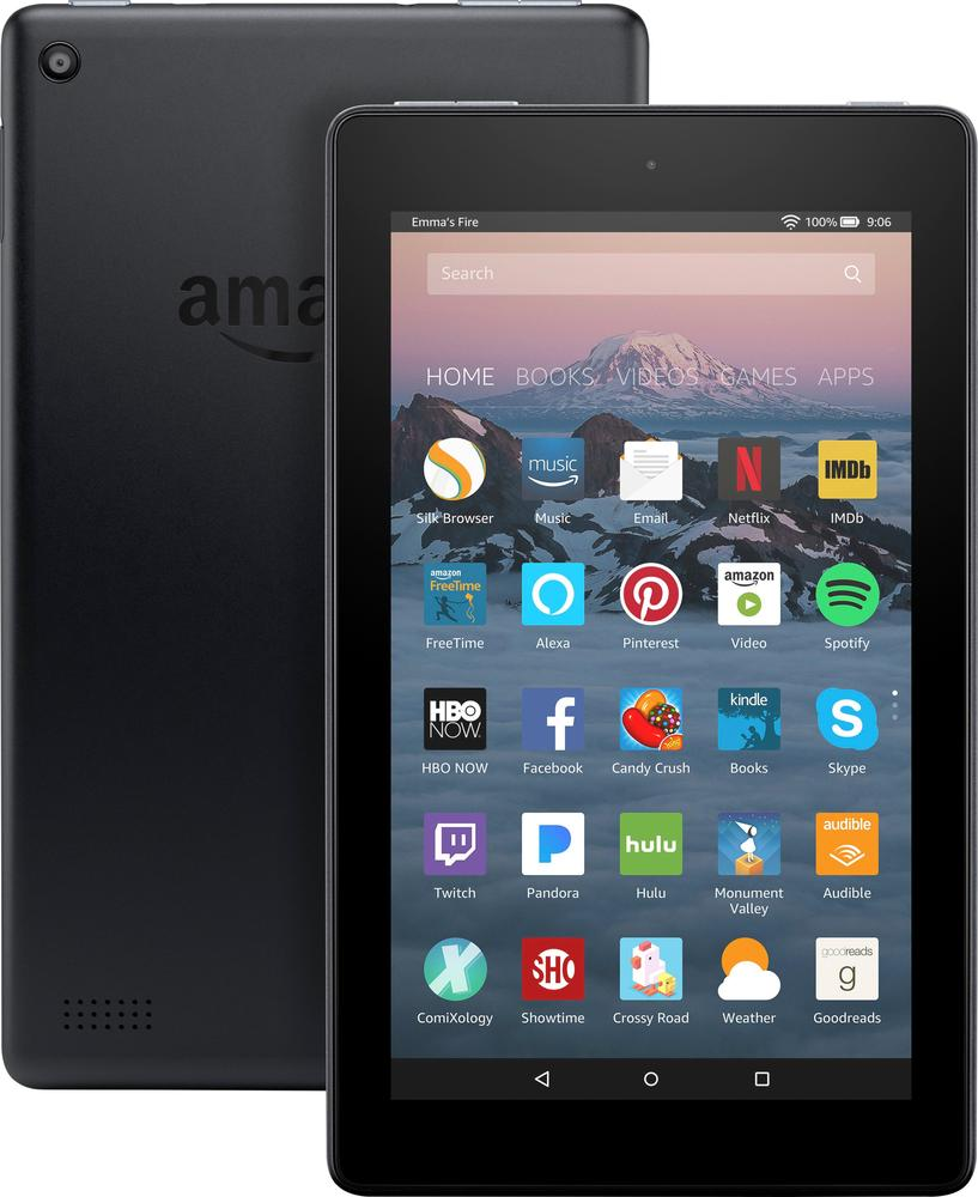 "Amazon B01GEW27DA Fire 7"" Tablet 8GB 7th Generation, 2017 Release Black"