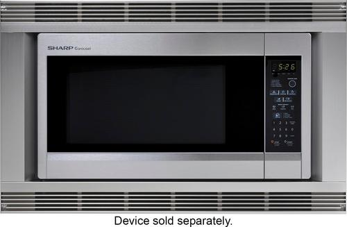 "Sharp - 30"" Trim Kit for Sharp R-651ZS Microwave - Silver 5823410"