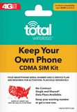Total Wireless - Bring Your Own Phone SIM Card Activation Kit