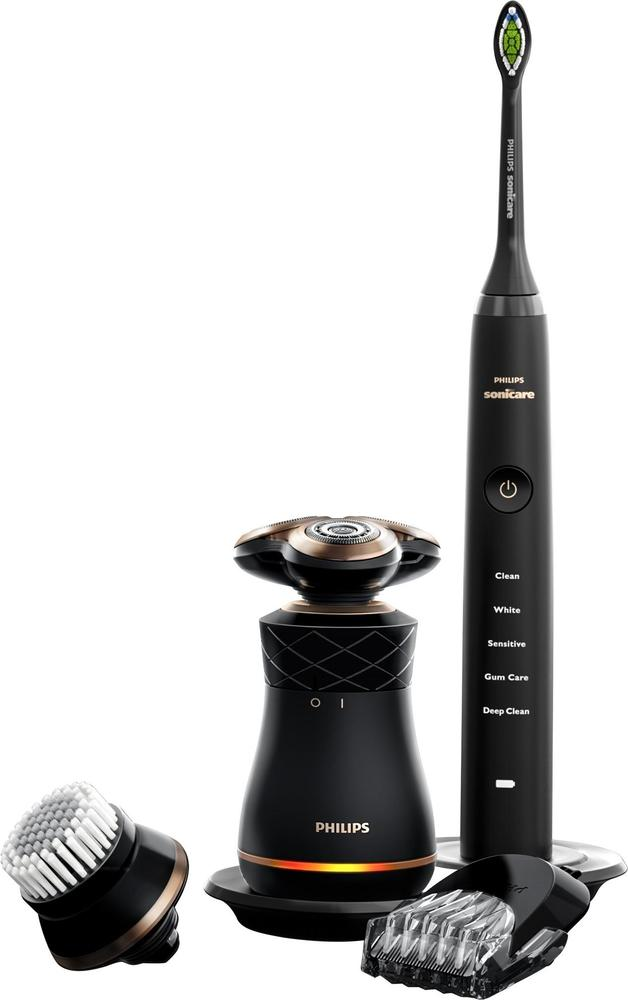 Philips Sonicare - Premium Men's Care Kit Special Edition Shaver and Toothbrush - Magic black ultra matte