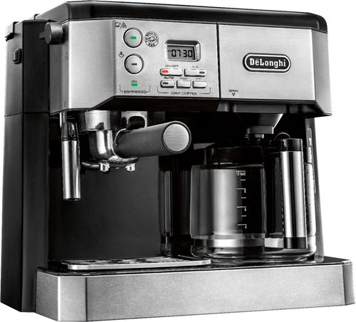DeLonghi - 10-Cup Coffeemaker and Espresso Maker - Stainless steel 5836500