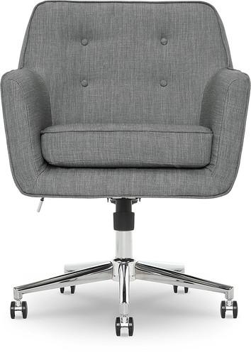Serta - Ashland 5-Pointed Star Memory Foam Office Chair - Gray