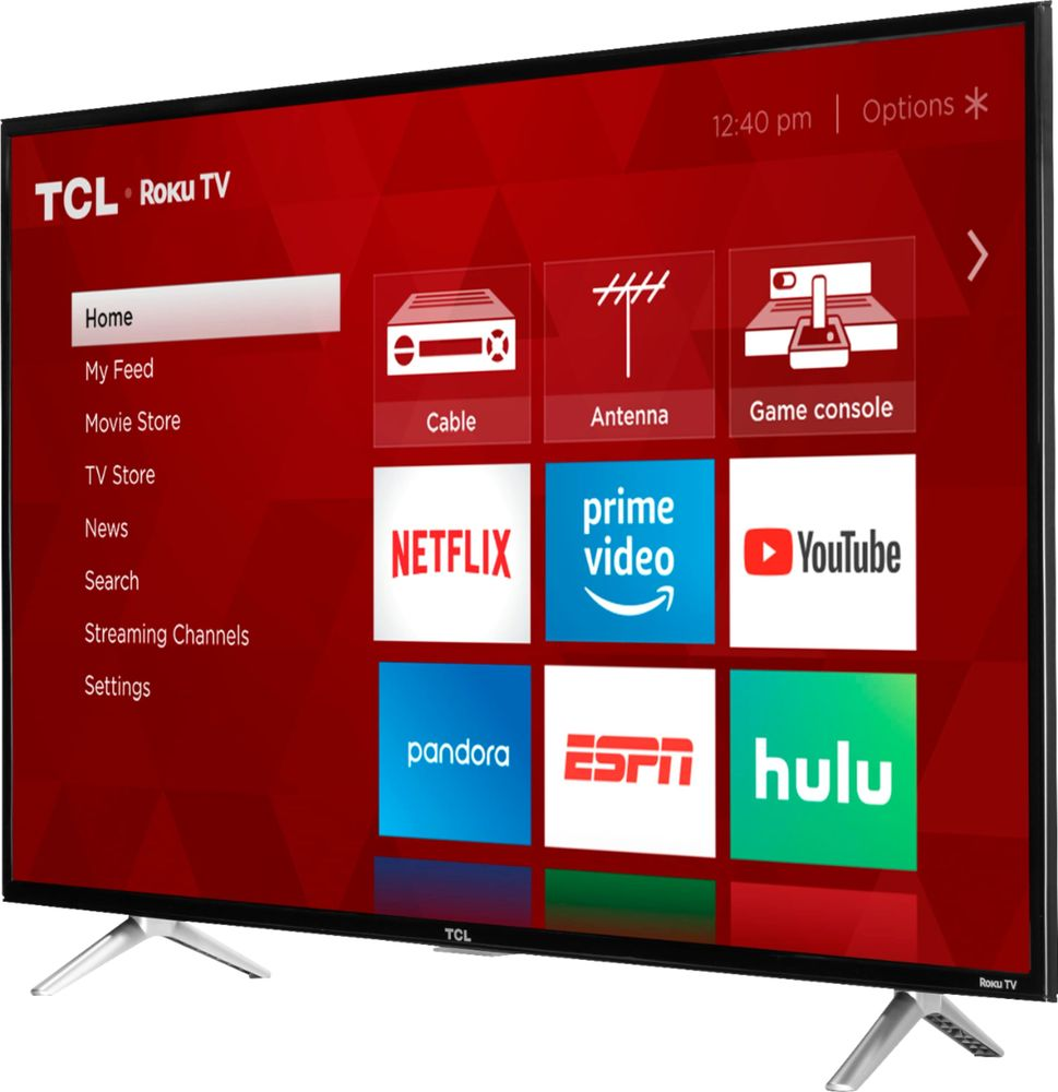"TCL 32S305 32"" Class (31.5"" Diag.) LED 720p Smart HDTV Roku TV Black"