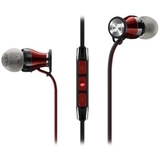 Sennheiser HD1 M2 IEI-BLACK Momentum In-Ear Headphones (iOS) Black/red