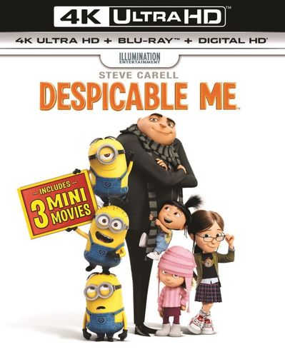 Despicable Me [Includes Digital Copy] [UltraViolet] [4K Ultra HD Blu-ray] [2 Discs] [2010] 5851318