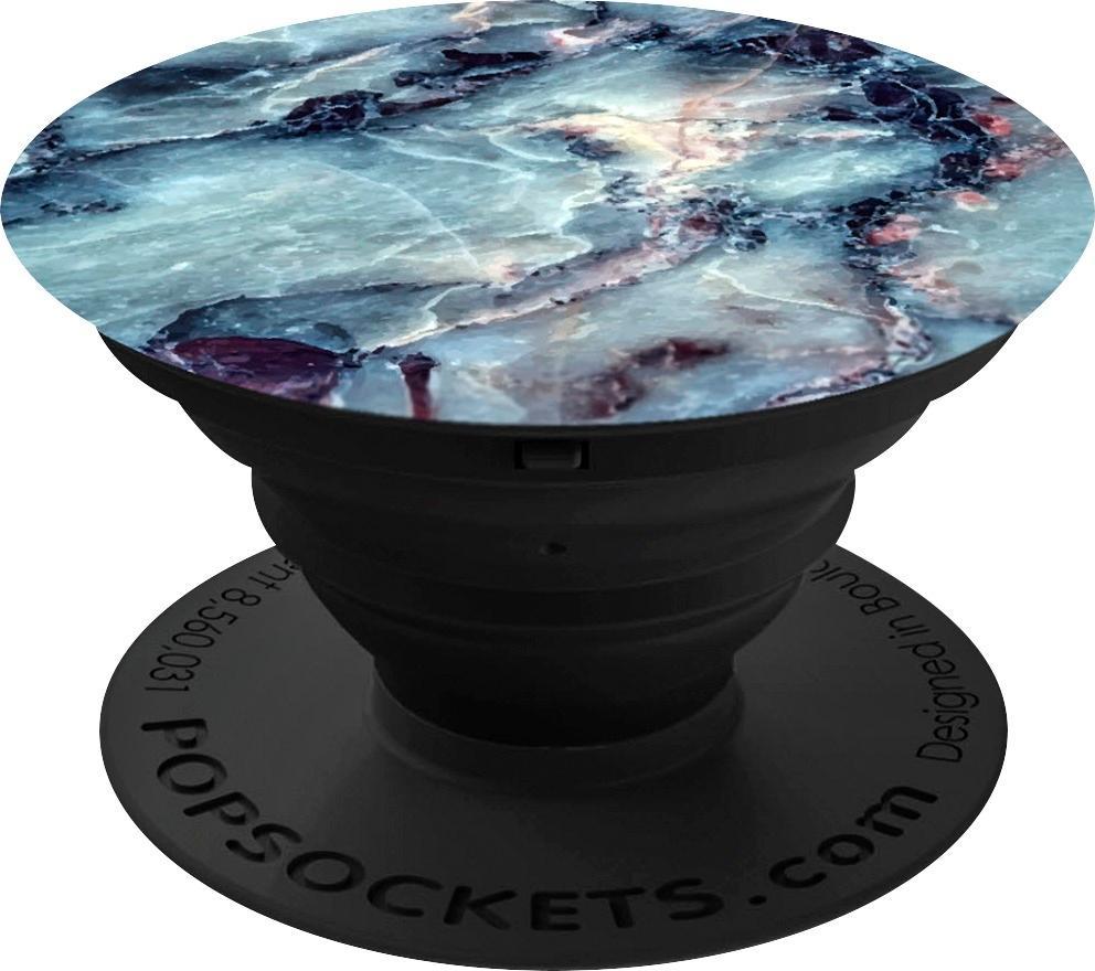 PopSockets - Finger Grip/Kickstand for Mobile Phones - Blue Marble