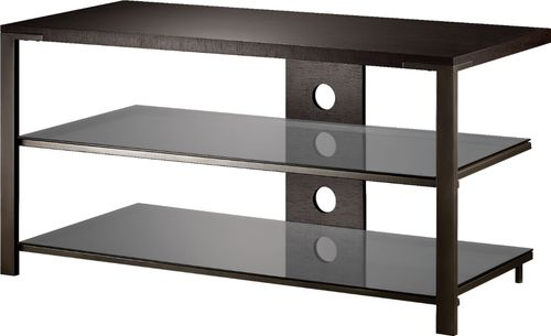 Insignia™ - TV Stand for Most TVs Up to 48u0022 - Espresso/Gray