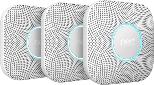 Nest - Protect 2nd Generation (Battery) Smart Smoke/Carbon Monoxide Alarm (3-Pack) - White