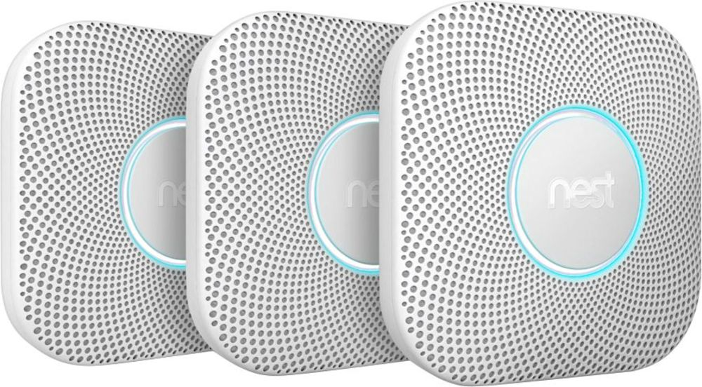 Google Nest Protect (Battery) 2nd Generation - 3 Pack, White