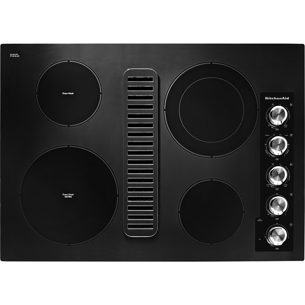 "KitchenAid KCED600GBL 30"" Electric Cooktop Black"