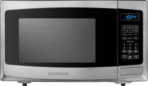 Insignia NS-MW09SS8 - Microwave oven - freestanding - 0.9 cu. ft - 900 W - stainless