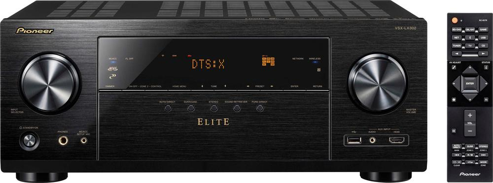 Pioneer VSXLX302 Elite 7.2-Ch. Hi-Res 4K Ultra HD HDR Compatible A/V Home Theater Receiver Black