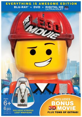 The LEGO Movie [3 Discs] [Includes Digital Copy] [UltraViolet] [With Minifigure] [3D] [Blu-ray/DVD] [Blu-ray/Blu-ray 3D/DVD] [2014] 5863047