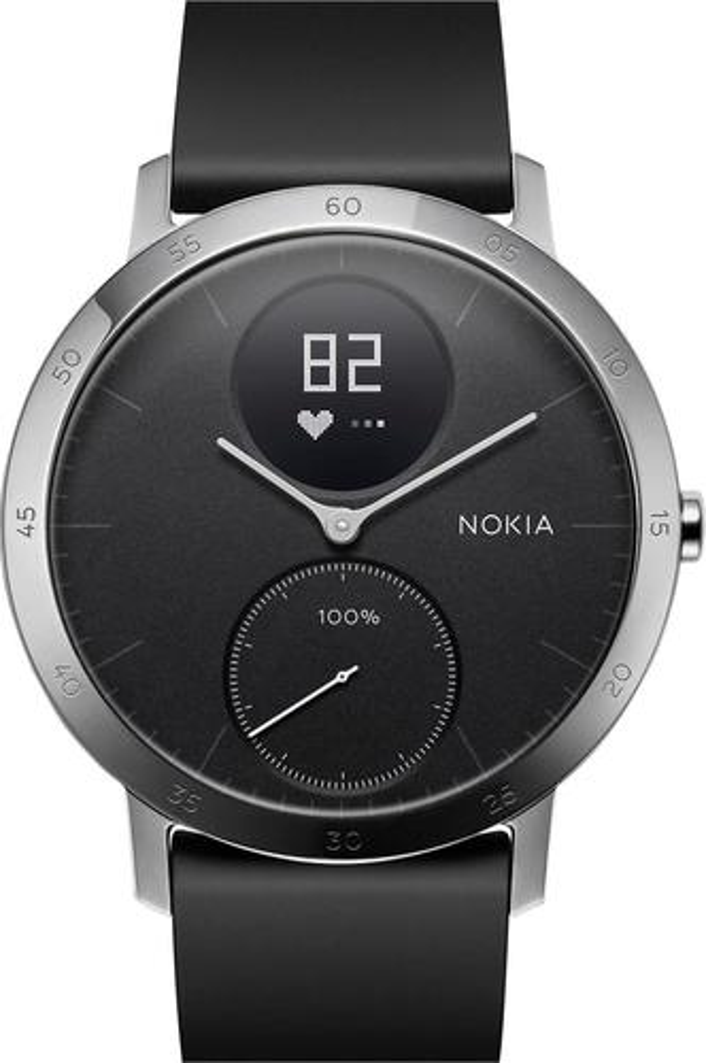 Nokia - Steel HR Activity Tracker + Heart Rate - Silver