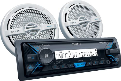 Sony DXS-MP5511BT Marine Digital Media Receiver with Bluetooth and Pair of XS-MP1611 Speakers