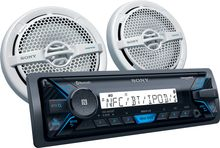 Sony - In-Dash Digital Media Receiver - Built-in Bluetooth - Satellite Radio-ready with Detachable Faceplate - Black