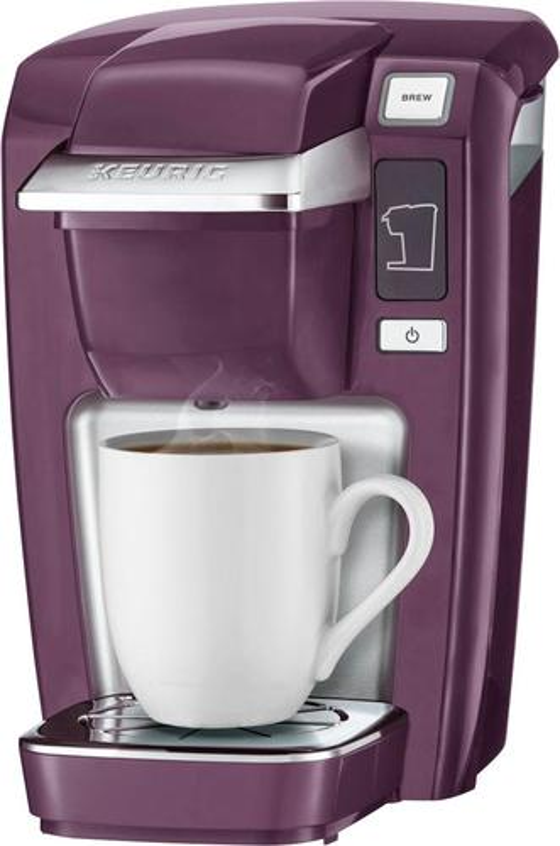 Keurig - K-Mini K15 Single-Serve K-Cup Pod Coffee Maker - Black Plum 5877201