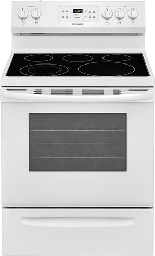 Frigidaire - 5.3 Cu. Ft. Self-Cleaning Freestanding Electric Range - White