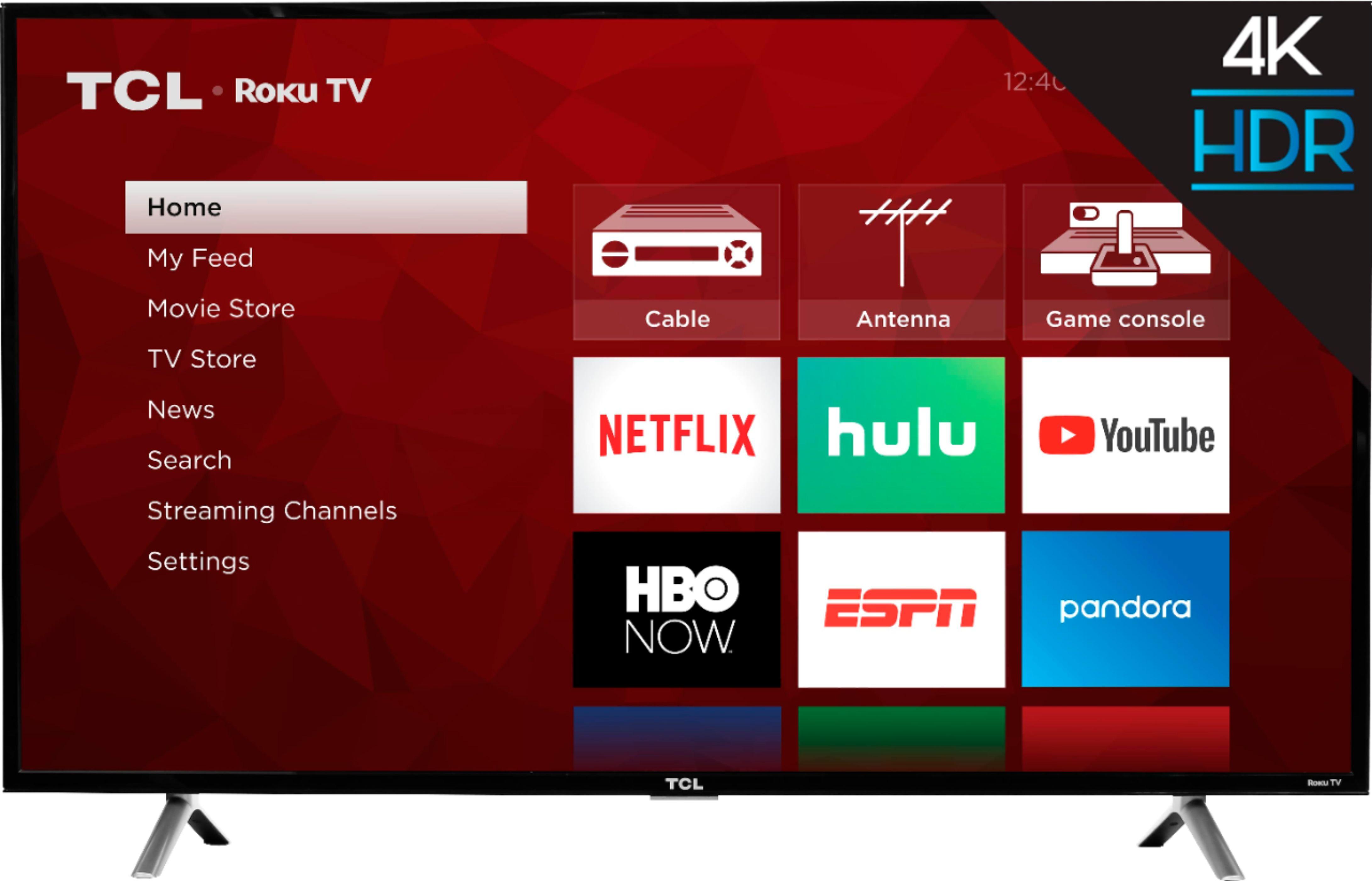 "TCL - 55"" Class - LED - 4 Series - 2160p - Smart - 4K UHD TV with HDR Roku TV"