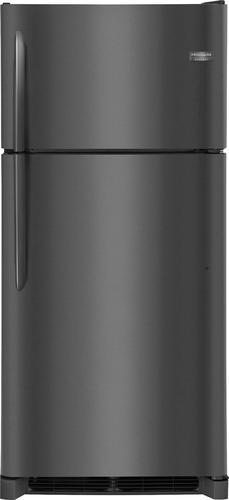 Frigidaire - Gallery 18.3 Cu. Ft. Top-Freezer Refrigerator - Black stainless steel