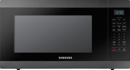 Samsung - 1.9 Cu. Ft. Countertop Microwave for Built-In Applications with Sensor Cooking - Fingerprint Resistant Black Stainless Steel