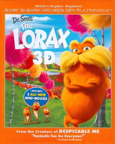 Dr. Seuss' The Lorax [3 Discs] [Includes Digital Copy] [UltraViolet] [3D] [Blu-ray/DVD] [Blu-ray/Blu-ray 3D/DVD] [2012] 5887531