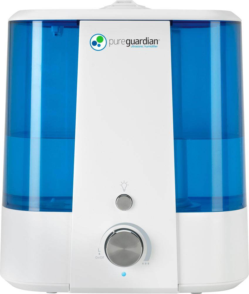 PureGuardian H1175CA 1.5 Gal. Ultrasonic Cool Mist Humidifier Blue/white