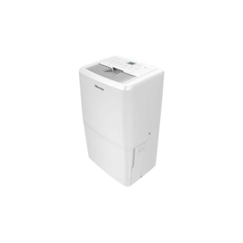 Hisense - 70-Pint Portable Dehumidifier - White Energy Star CertifiedFull bucket indicator with auto shut-off