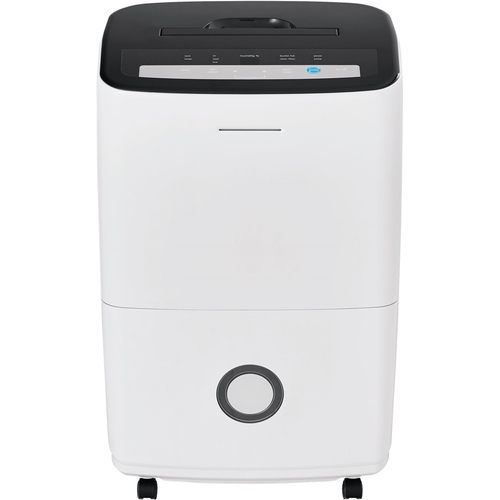 Frigidaire - 70-Pint Portable Dehumidifier - White Includes integrated pump and drain hose connectionEnergy Star Certified6.7 ampsBucket full indicator light; auto shut offCarry handle included; adjustable humidistat