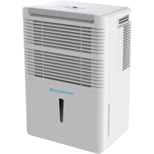 Keystone - 70-Pint Portable Dehumidifier - White Designed for rooms up to 4499 sq.ft.6.5 ampsFull bucket indicator with auto shut-off; frost protection