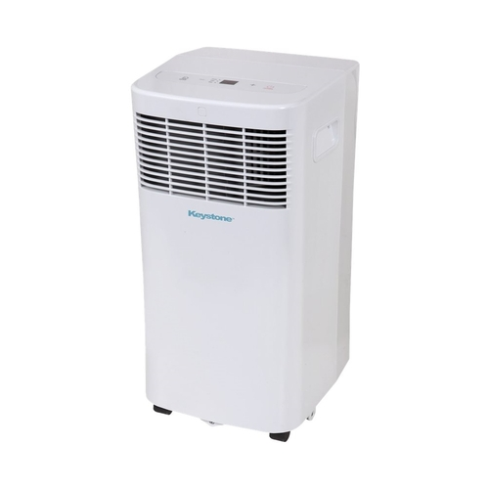 Keystone - 300.3 Sq. Ft. Portable Air Conditioner - White 5890307
