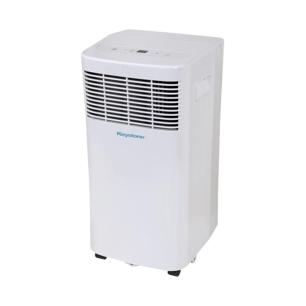 Keystone - 200.2 Sq. Ft. Portable Air Conditioner - White 5890311