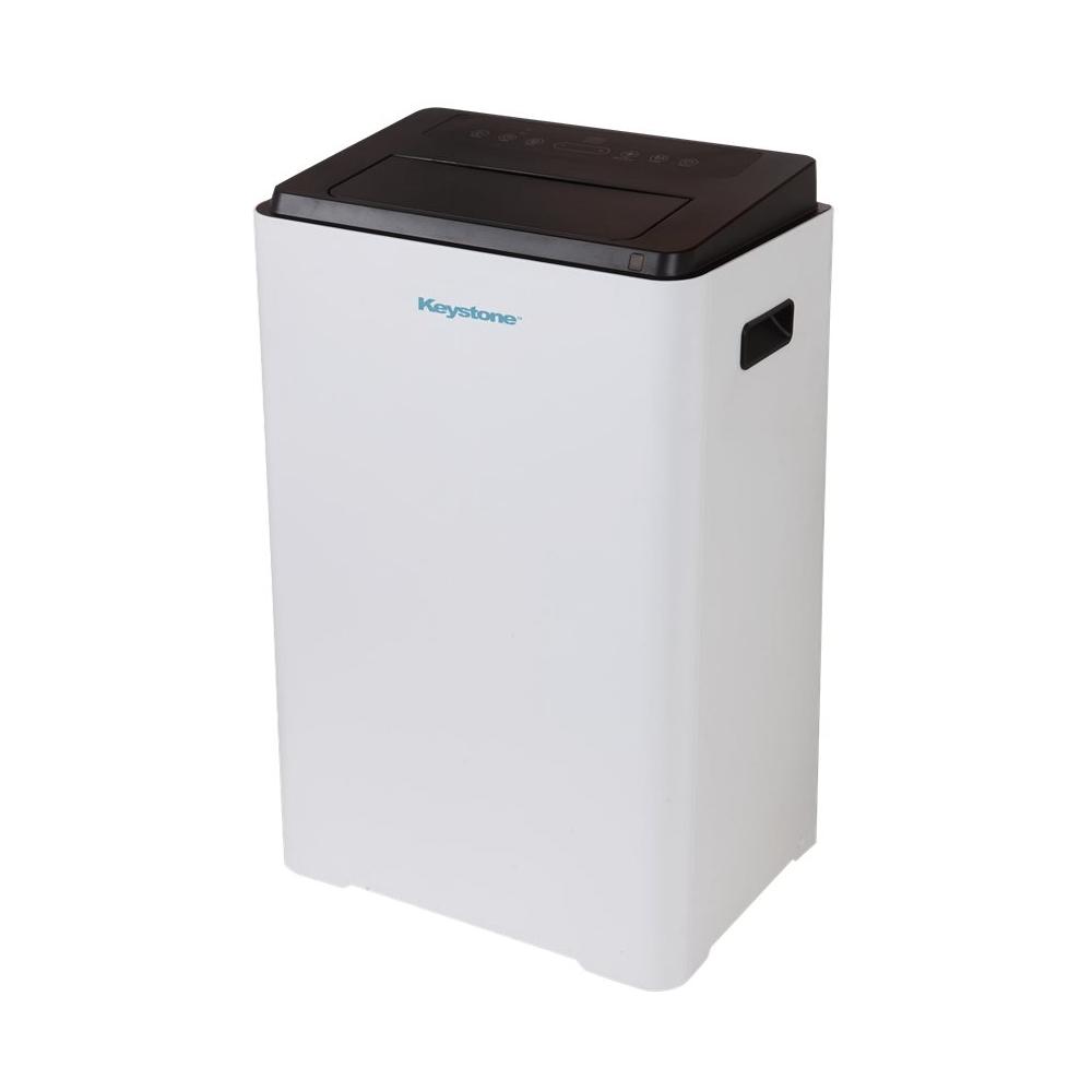 Keystone - 550.0 Sq. Ft. Portable Air Conditioner - White 5890319