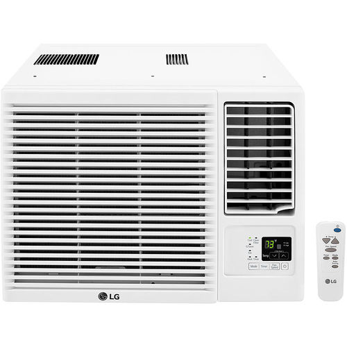 LG - 23,000 BTU Window Air Conditioner and 11,600 BTU Heater - White 5890353