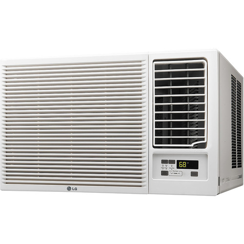 LG - 18,000 BTU Window Air Conditioner and 12,000 BTU Heater - White 1000 sq. ft. cooling capacityRemote Control