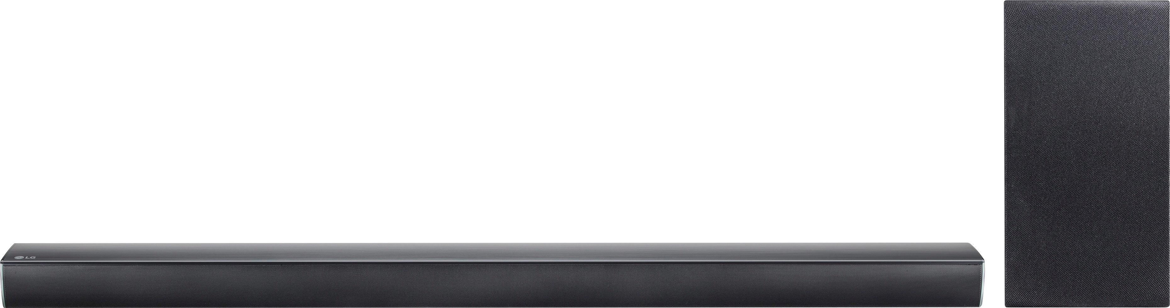 LG 2.1-Channel Hi-Res Soundbar System with Wireless Subwoofer and Digital Amplifier Black SJ4Y-S