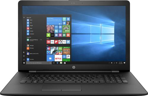"""HP - 17.3"""" Laptop - AMD A9-Series - 4GB Memory - 1TB Hard Drive - HP finish in jet black with woven texture pattern"""