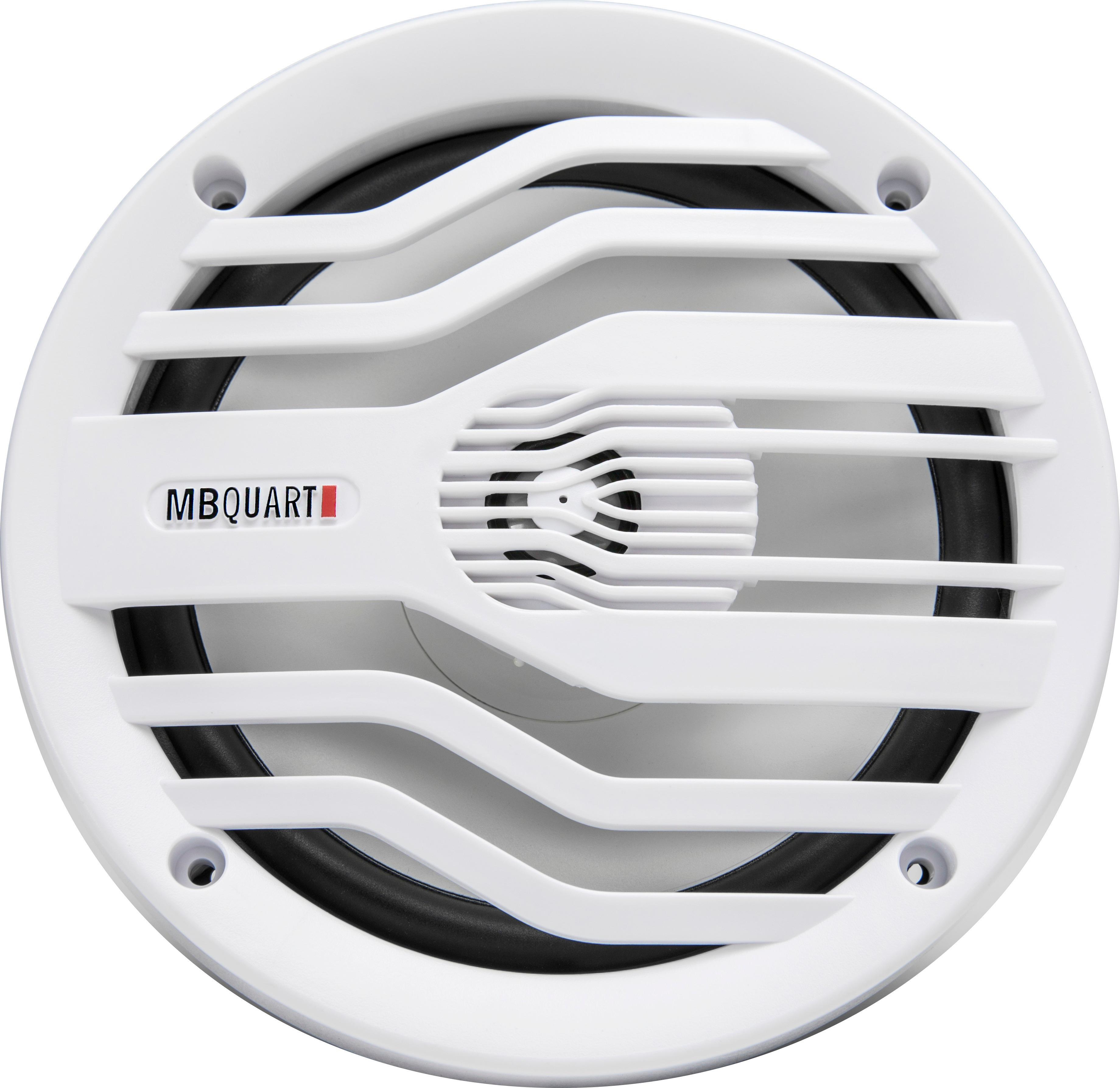 "MB Quart - NAUTIC 6-1/2"" 2-Way Marine Speakers with Composite Polypropylene Cones (Pair) - White"
