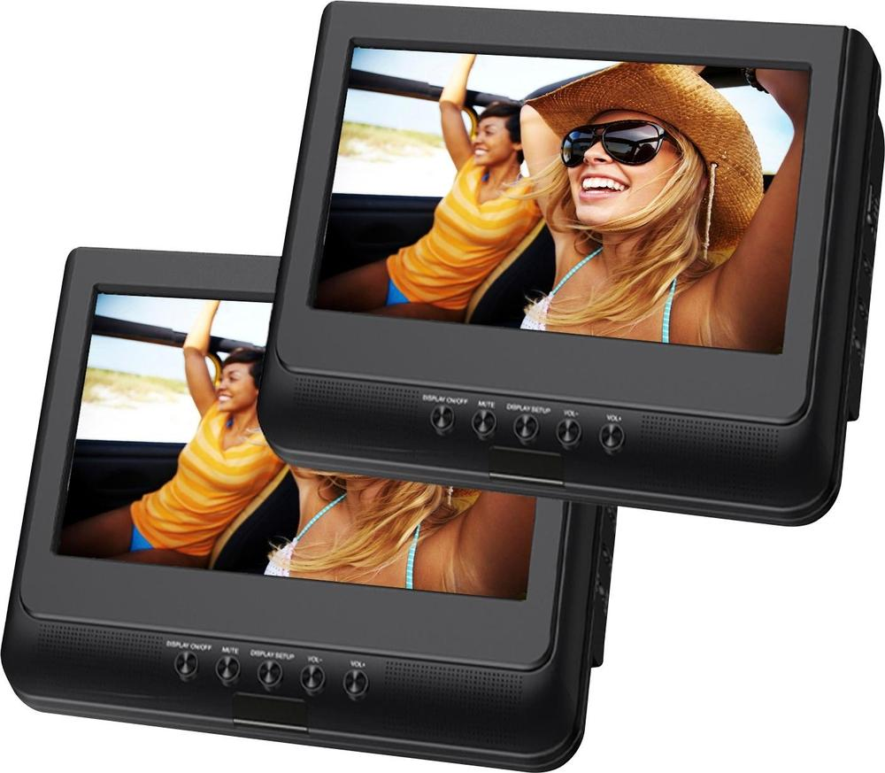 "Sylvania SDVD1037 10"" Dual Screen Portable Player Black"